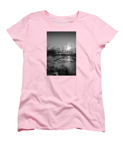 Women's T-Shirt (Standard Cut) featuring the photograph Rivers Edge by Annette Berglund