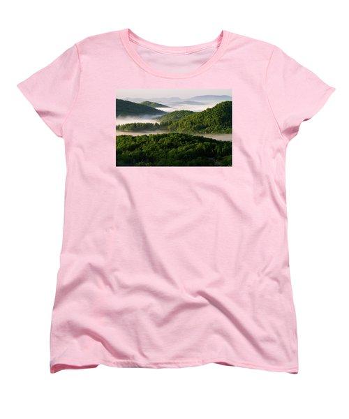 Rivers Of White Women's T-Shirt (Standard Cut) by Deborah Scannell