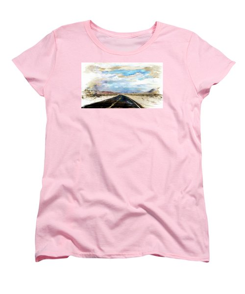 Road In The Desert Women's T-Shirt (Standard Cut) by Robert Smith
