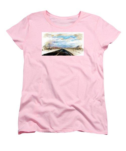 Women's T-Shirt (Standard Cut) featuring the digital art Road In The Desert by Robert Smith