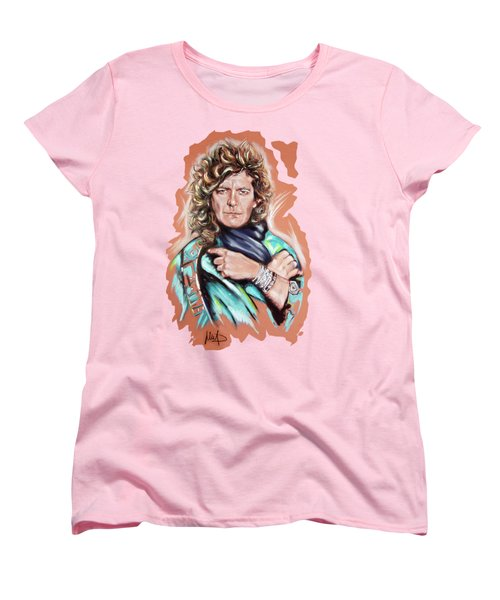 Robert Plant Women's T-Shirt (Standard Cut) by Melanie D