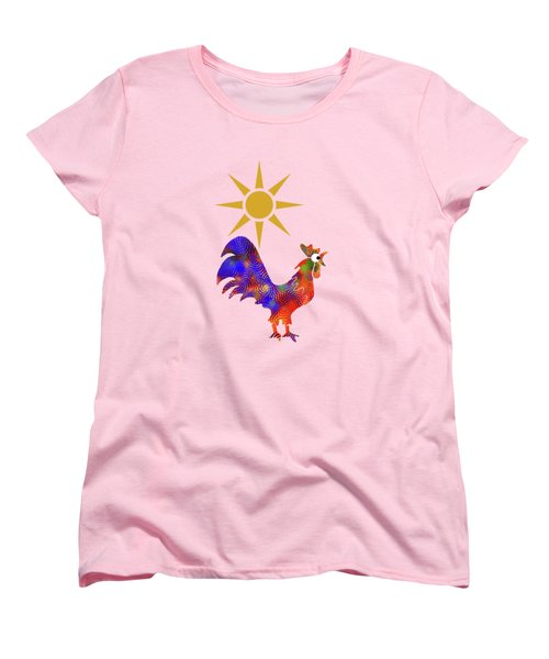 Rooster Pattern Women's T-Shirt (Standard Cut) by Christina Rollo