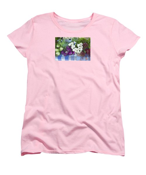 Women's T-Shirt (Standard Cut) featuring the painting Root Vegetables by Jeanette French