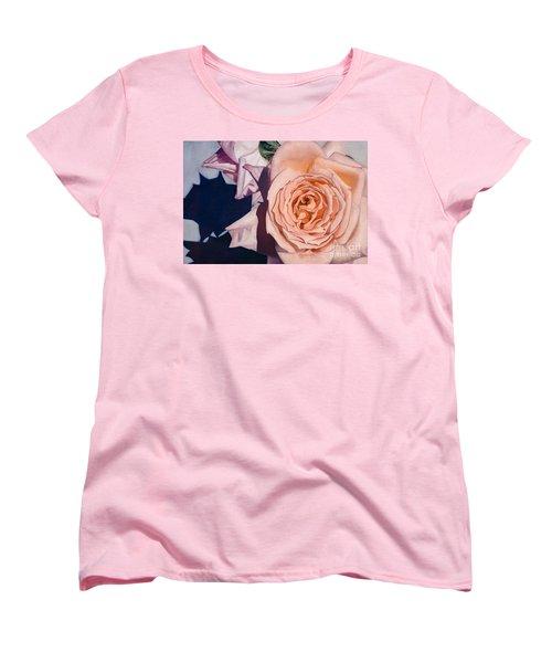 Rose Splendour Women's T-Shirt (Standard Cut) by Kerryn Madsen-Pietsch