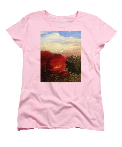 Rosebush Women's T-Shirt (Standard Cut) by Mary Ellen Frazee