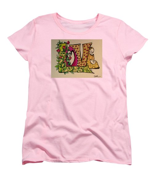 Roses For You Women's T-Shirt (Standard Cut) by Claudia Cole Meek