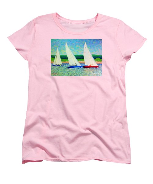 Rounding The Mark  Women's T-Shirt (Standard Cut) by Rae  Smith