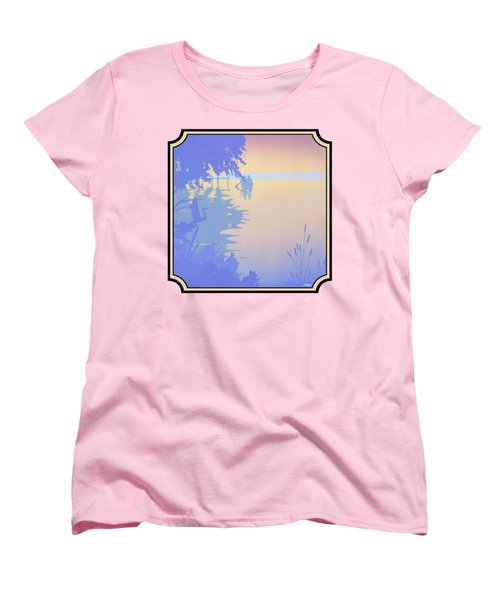 Rowing Back To The Boat Dock At Sunset Abstract Women's T-Shirt (Standard Fit)