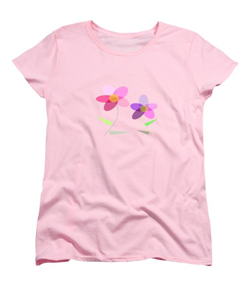 Rows Of Flowers Women's T-Shirt (Standard Fit)
