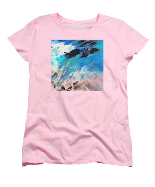 Rushing Water Women's T-Shirt (Standard Cut) by M Diane Bonaparte