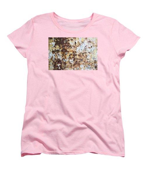 Women's T-Shirt (Standard Cut) featuring the photograph Rust Paper Texture by John Williams