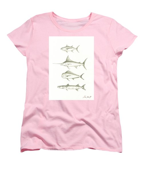 Saltwater Gamefishes Women's T-Shirt (Standard Cut)