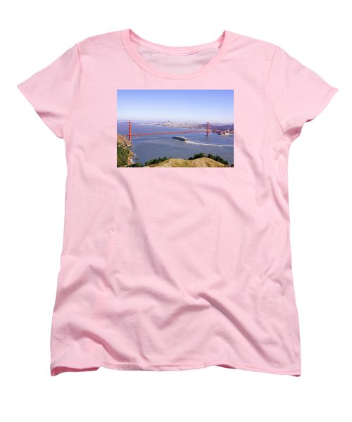 Women's T-Shirt (Standard Cut) featuring the photograph San Francisco - City By The Bay by Art Block Collections