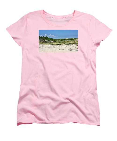 Women's T-Shirt (Standard Cut) featuring the photograph Sand Dune In Cape Henlopen State Park - Delaware by Brendan Reals