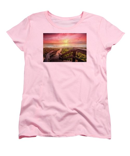 Women's T-Shirt (Standard Cut) featuring the photograph Sand Dune Morning by Debra and Dave Vanderlaan