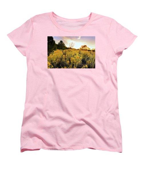 Women's T-Shirt (Standard Cut) featuring the photograph Santa Fe Magic by Stephen Anderson