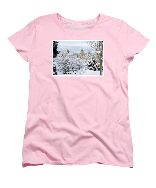 Saratoga Winter Scene Women's T-Shirt (Standard Cut) by Lise Winne