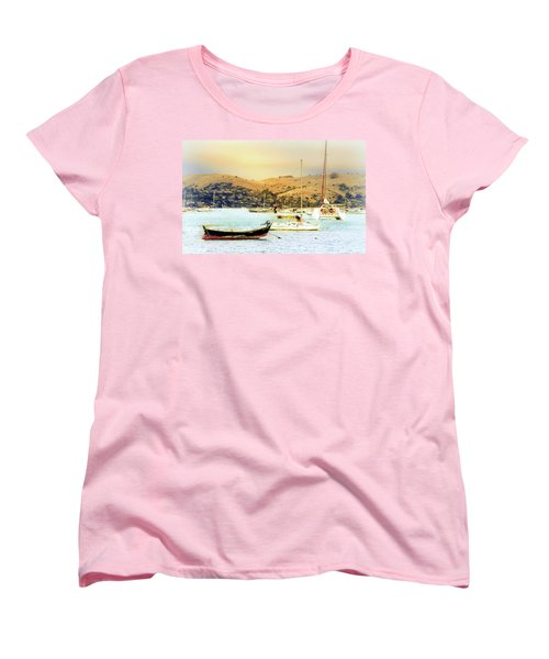 Women's T-Shirt (Standard Cut) featuring the photograph Sausalito Sailboats by Laura DAddona