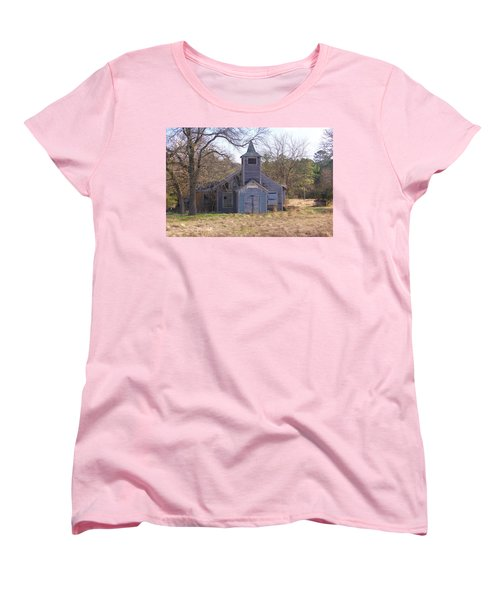 Schoolhouse#3 Women's T-Shirt (Standard Cut) by Susan Crossman Buscho
