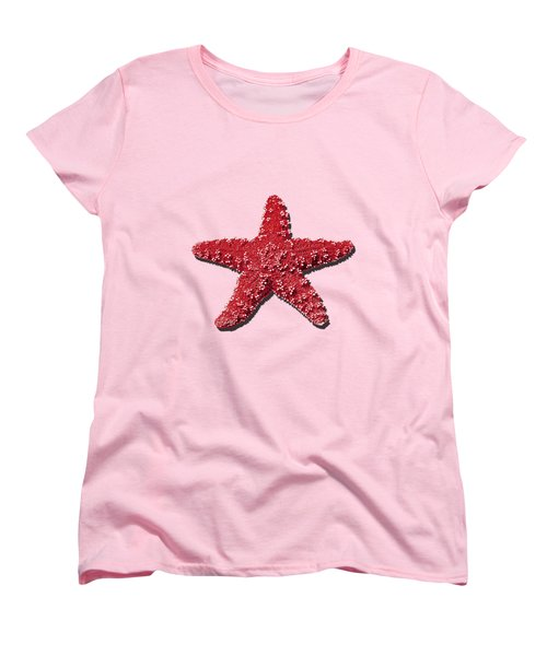 Sea Star Red .png Women's T-Shirt (Standard Cut) by Al Powell Photography USA