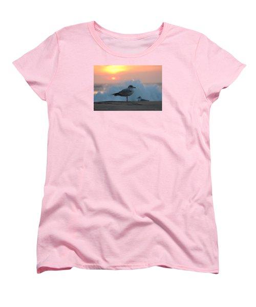 Seagull Seascape Sunrise Women's T-Shirt (Standard Cut)