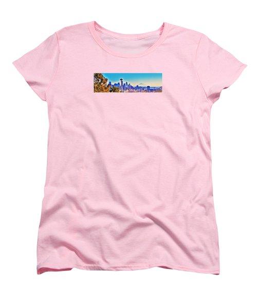 Seattle Sky Women's T-Shirt (Standard Cut) by Martin Cline
