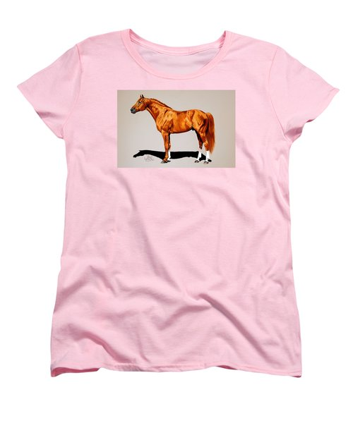 Secretariat - Triple Crown Winner By 31 Lengths Women's T-Shirt (Standard Cut) by Cheryl Poland