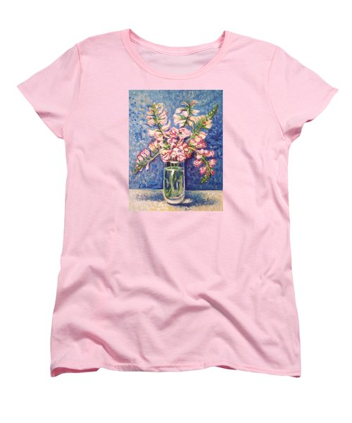 Women's T-Shirt (Standard Cut) featuring the painting September Snaps by Laura Aceto