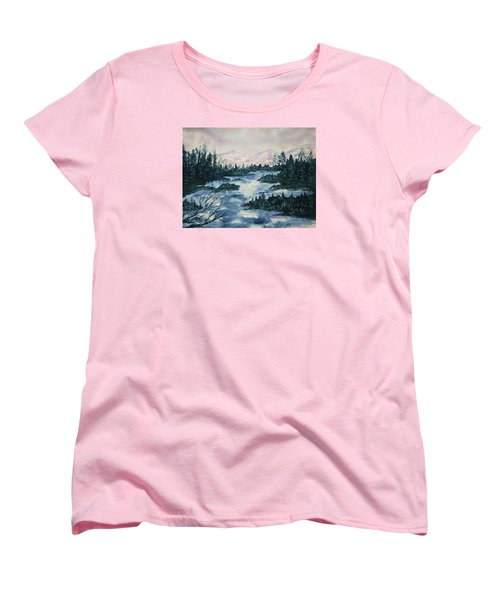 Women's T-Shirt (Standard Cut) featuring the painting Serenity IIi by Ellen Levinson