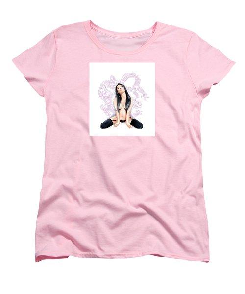 Sexy Asian Dragon Women's T-Shirt (Standard Cut) by Brian Gibbs
