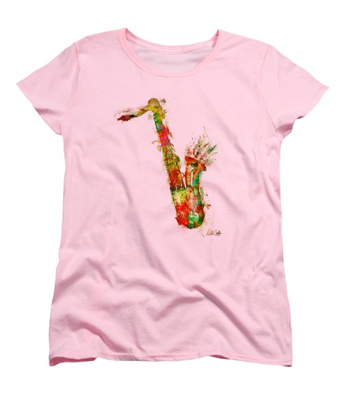 Sexy Saxaphone Women's T-Shirt (Standard Cut) by Nikki Smith
