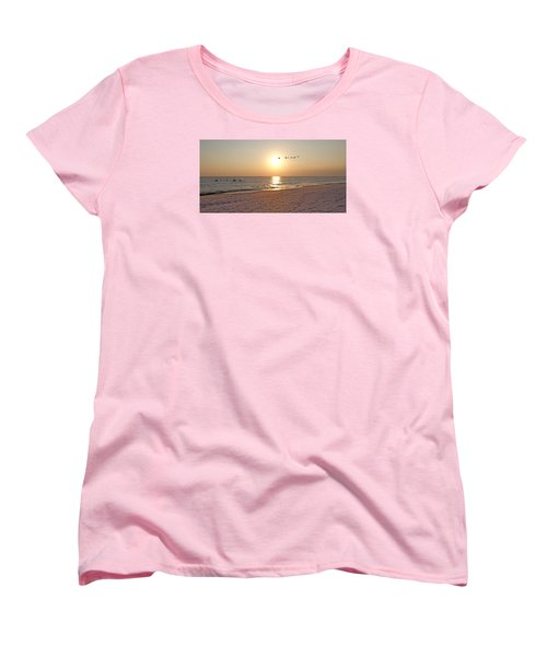 Shackleford Banks Sunset Women's T-Shirt (Standard Cut) by Betsy Knapp
