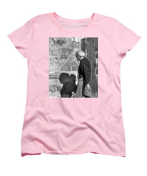 Women's T-Shirt (Standard Cut) featuring the photograph Shadow Of A Man by Jim Walls PhotoArtist
