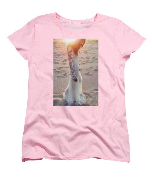 Women's T-Shirt (Standard Cut) featuring the digital art She Just Went Away by Gun Legler
