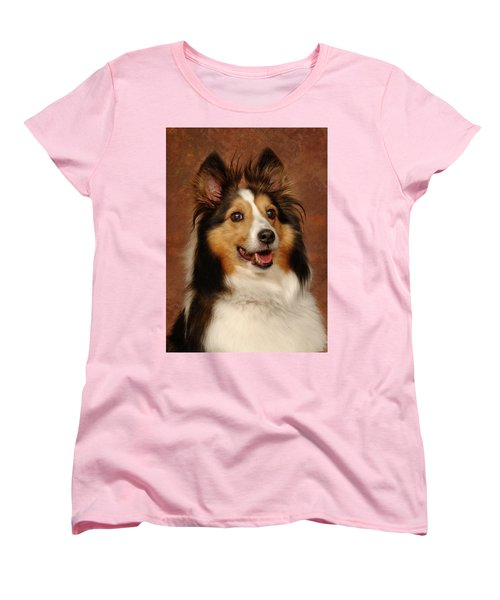 Sheltie Women's T-Shirt (Standard Cut) by Greg Mimbs