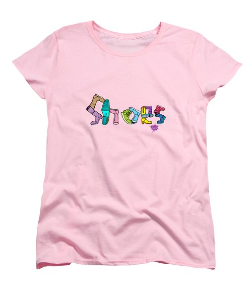 Women's T-Shirt (Standard Cut) featuring the drawing Shoes by Anthony Mwangi