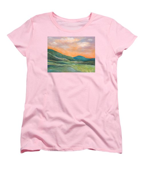 Women's T-Shirt (Standard Cut) featuring the painting Silent Reverie by Tanielle Childers