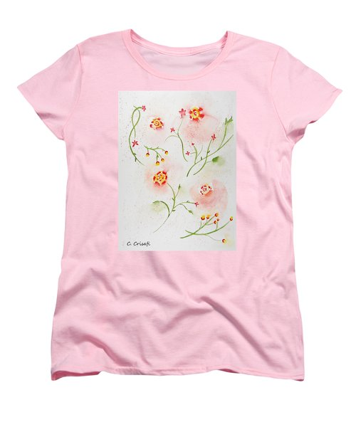 Simple Flowers #2 Women's T-Shirt (Standard Cut) by Carol Crisafi