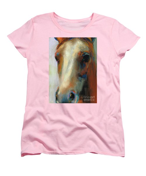 Simple Horse Women's T-Shirt (Standard Cut) by Frances Marino