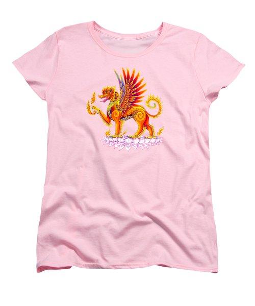 Singha Winged Lion Women's T-Shirt (Standard Cut) by Rebecca Wang