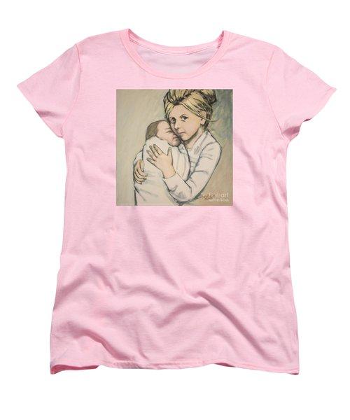 Women's T-Shirt (Standard Cut) featuring the painting Sisters by Olimpia - Hinamatsuri Barbu