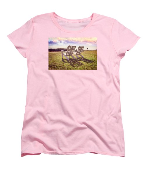 Women's T-Shirt (Standard Cut) featuring the photograph Sitting In The Sun by Debra and Dave Vanderlaan