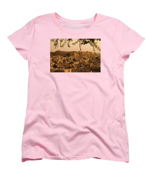 Skn 1334 The Golden City Women's T-Shirt (Standard Cut) by Sunil Kapadia
