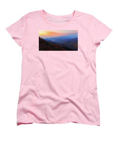 Dawn From Standing Indian Mountain Women's T-Shirt (Standard Cut) by Daniel Reed