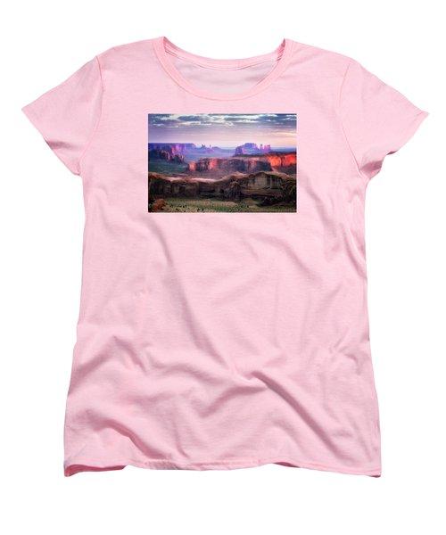 Smooth Sunset Women's T-Shirt (Standard Cut) by Nicki Frates