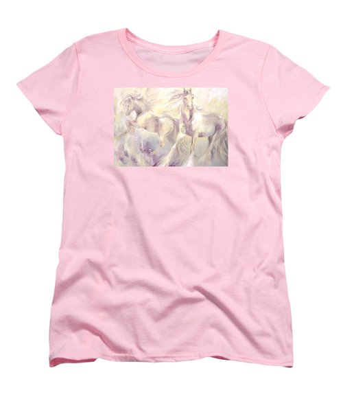 Women's T-Shirt (Standard Cut) featuring the painting Snow Gypsies by Dina Dargo