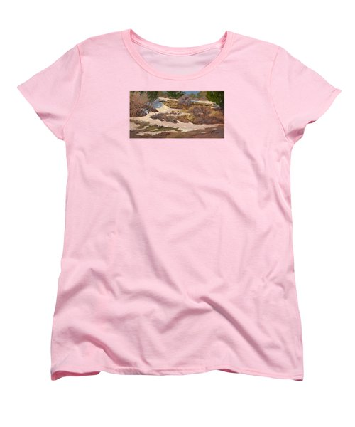 Snow Patch Women's T-Shirt (Standard Cut) by Jane Thorpe