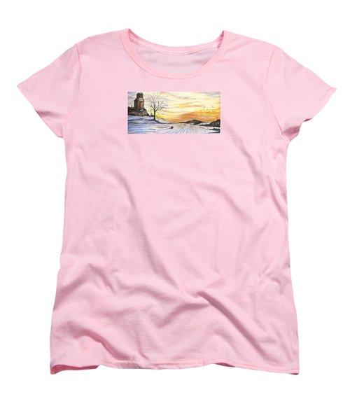 Snowy Farm Women's T-Shirt (Standard Cut) by Darren Cannell