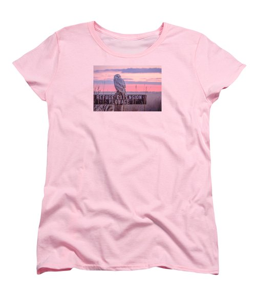 Snowy In The Meadow Women's T-Shirt (Standard Cut) by Kelly Marquardt