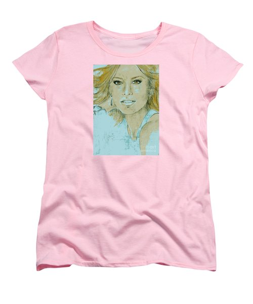 Sofia Vergara Women's T-Shirt (Standard Cut) by P J Lewis